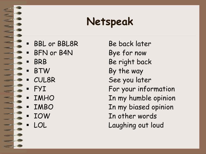 Netspeak