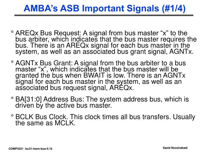 AMBA's ASB Important Signals (#1/4)