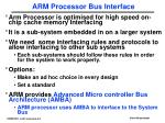 arm processor bus interface