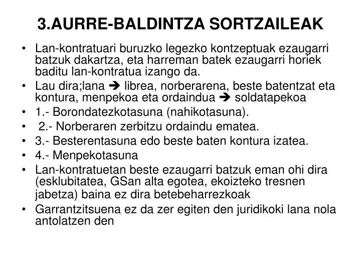 3.AURRE-BALDINTZA SORTZAILEAK