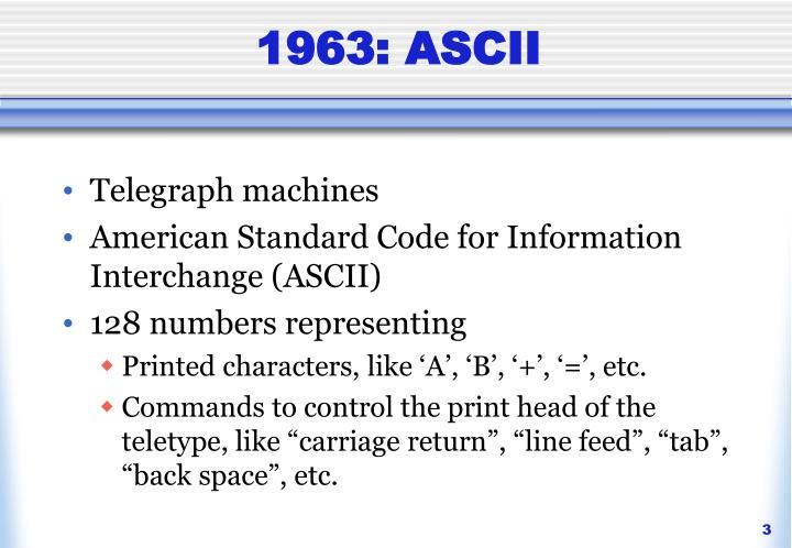 1963: ASCII
