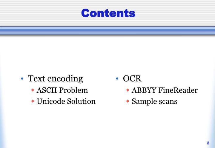 Text encoding