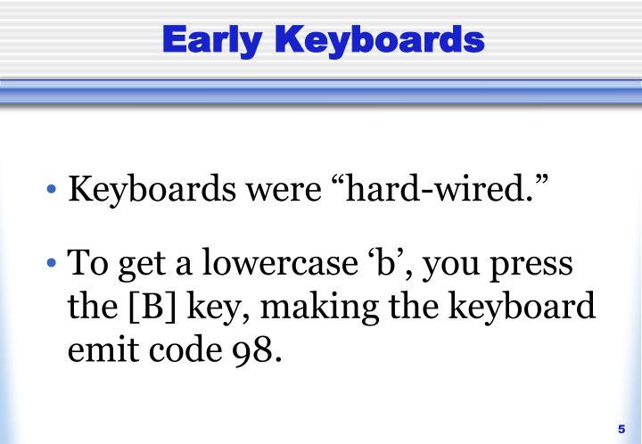 Early Keyboards
