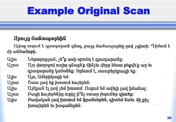 Example Original Scan