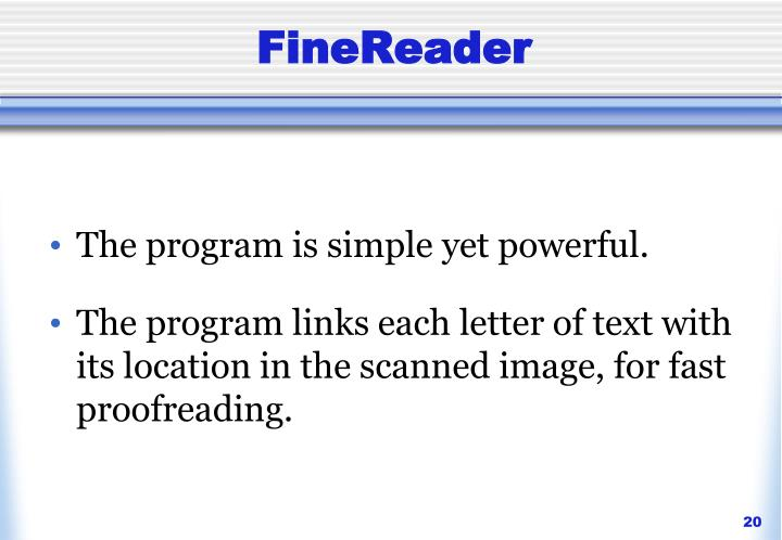 FineReader