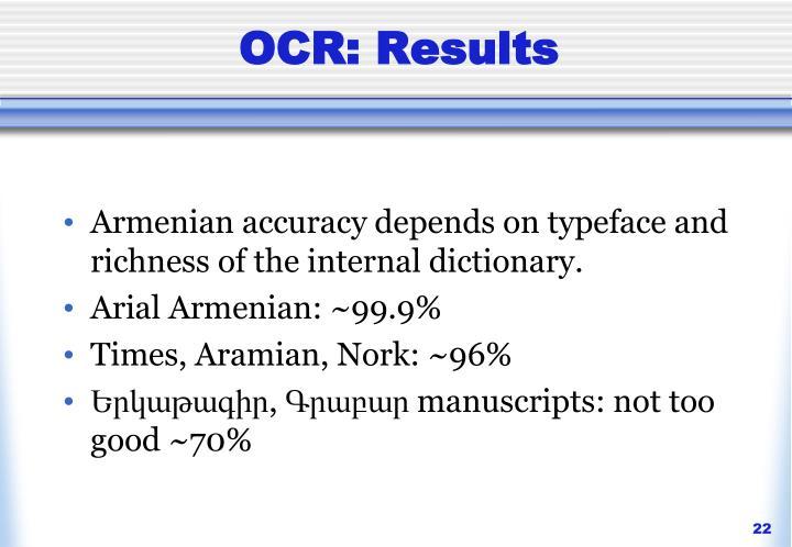 OCR: Results