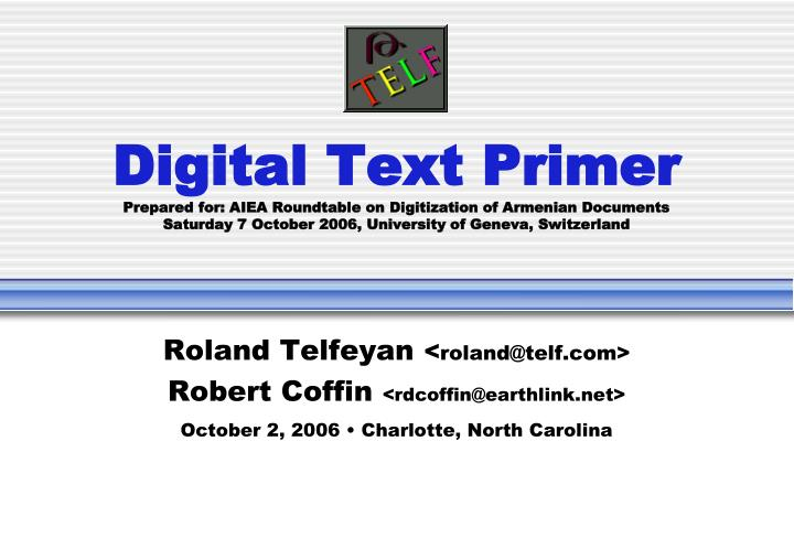 Digital Text Primer