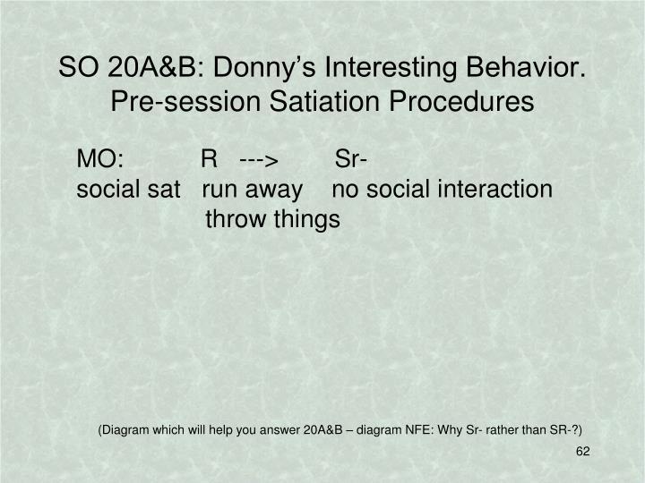 SO 20A&B: Donny's Interesting Behavior.
