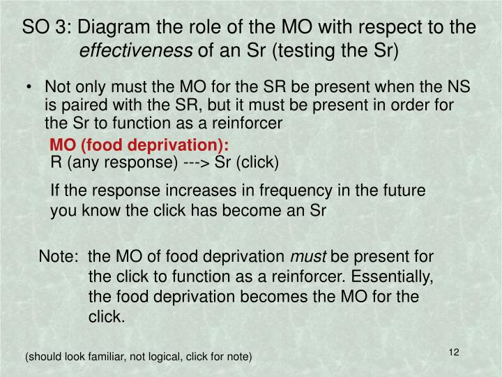 SO 3: Diagram the role of the MO with respect to the