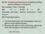 so 9a conditioned reinforcer establishing effect and the behavior it influences