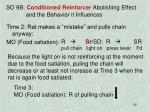 so 9b conditioned reinforcer abolishing effect and the behavior it influences1