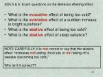 sos 5 6 exam questions on the behavior altering effect