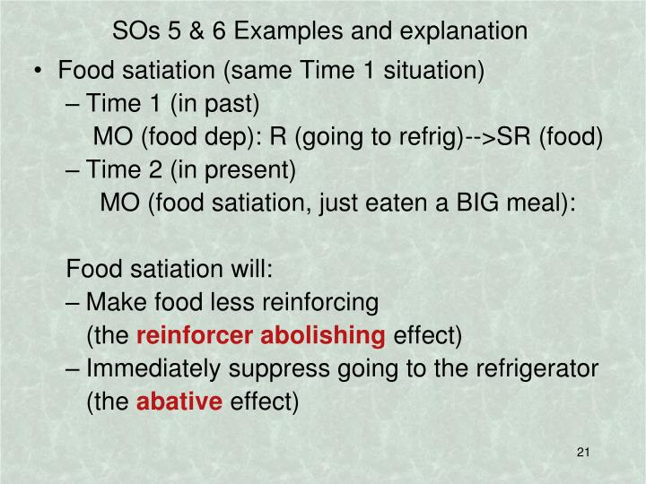 SOs 5 & 6 Examples and explanation