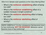 sos 5 6 sample exam questions on the value altering effect