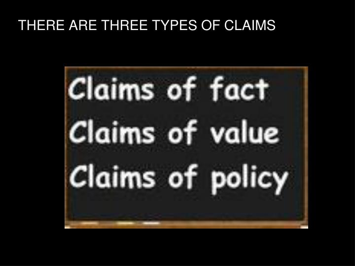 There are three types of claims