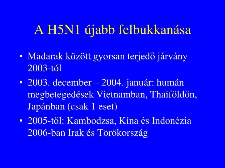 A H5N1 újabb felbukkanása