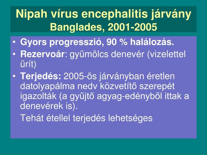 Nipah vírus encephalitis járvány
