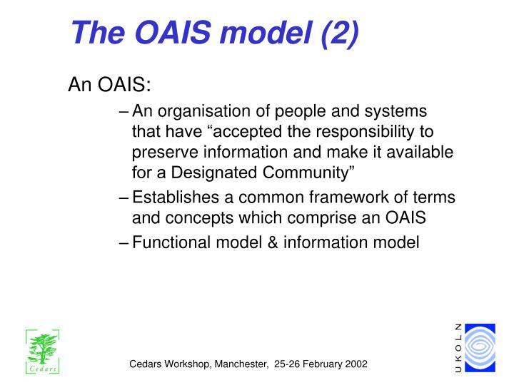 The OAIS model (2)
