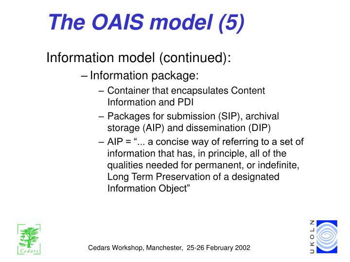 The OAIS model (5)