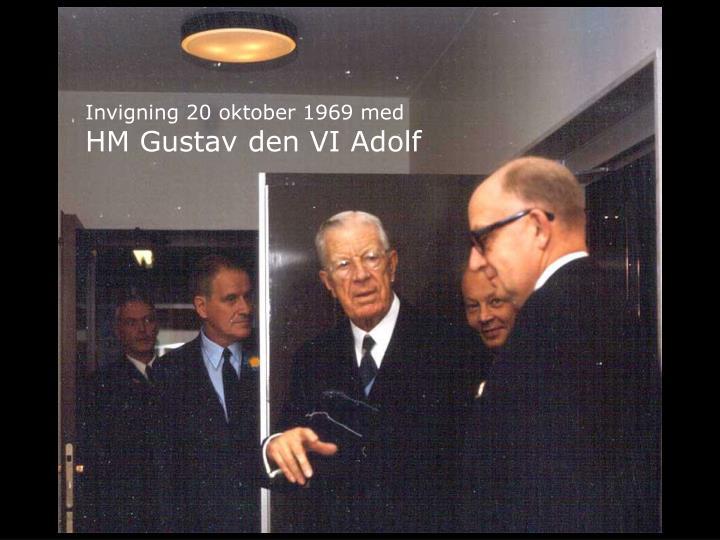 HM Gustav den VI Adolf 20 oktober 1969