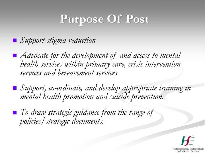 Purpose Of Post