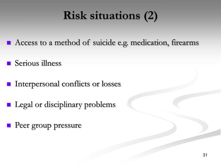 Risk situations (2)