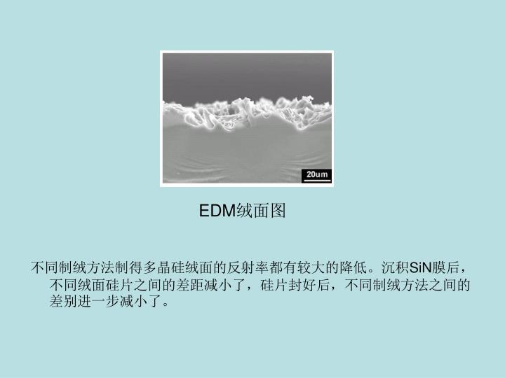 不同制绒方法制得多晶硅绒面的反射率都有较大的降低。沉积