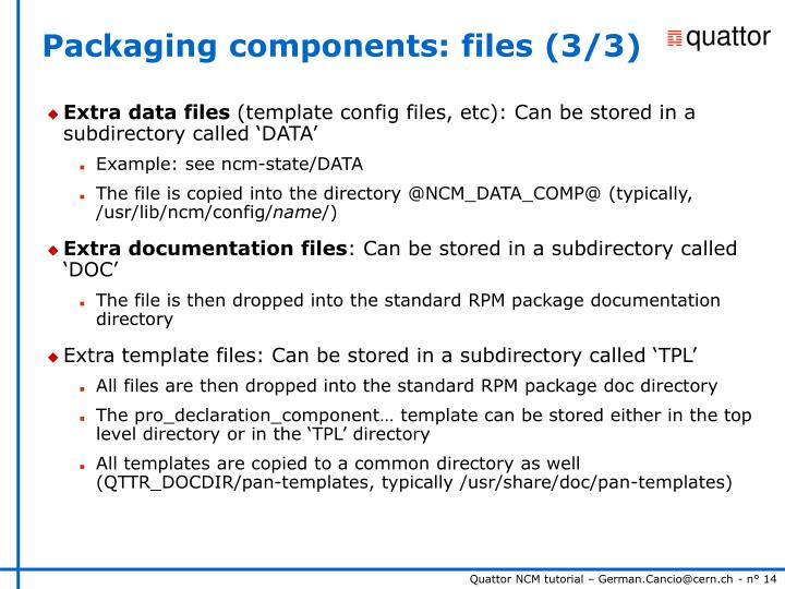 Packaging components: files (3/3)