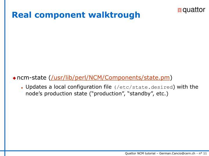 Real component walktrough