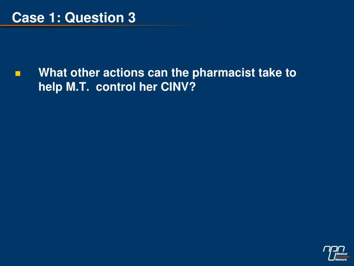 Case 1: Question 3