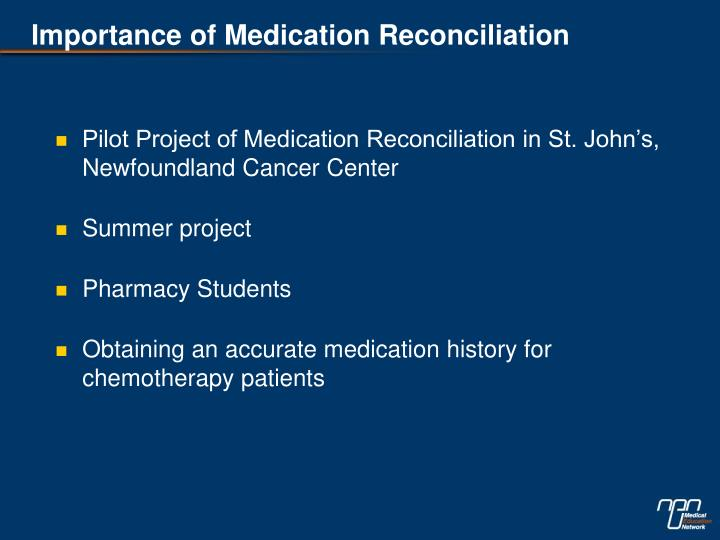 Importance of Medication Reconciliation