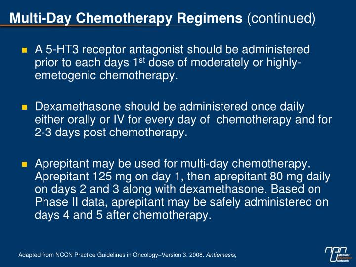 Multi-Day Chemotherapy Regimens