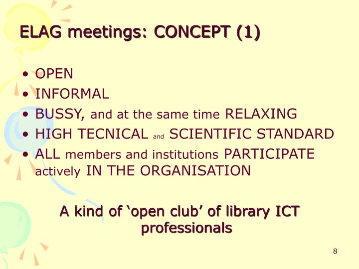 ELAG meetings: CONCEPT (1)