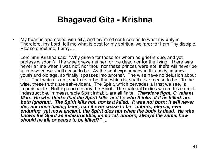 Bhagavad Gita - Krishna