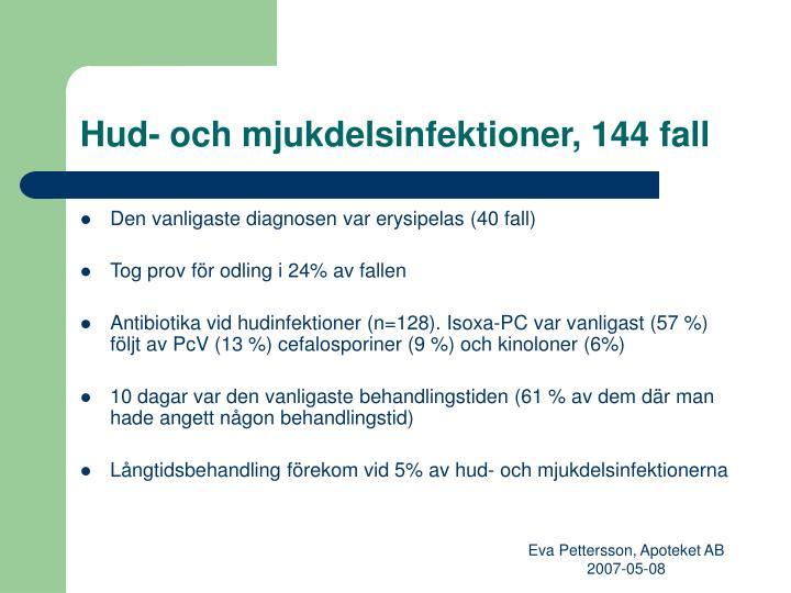 Hud- och mjukdelsinfektioner, 144 fall