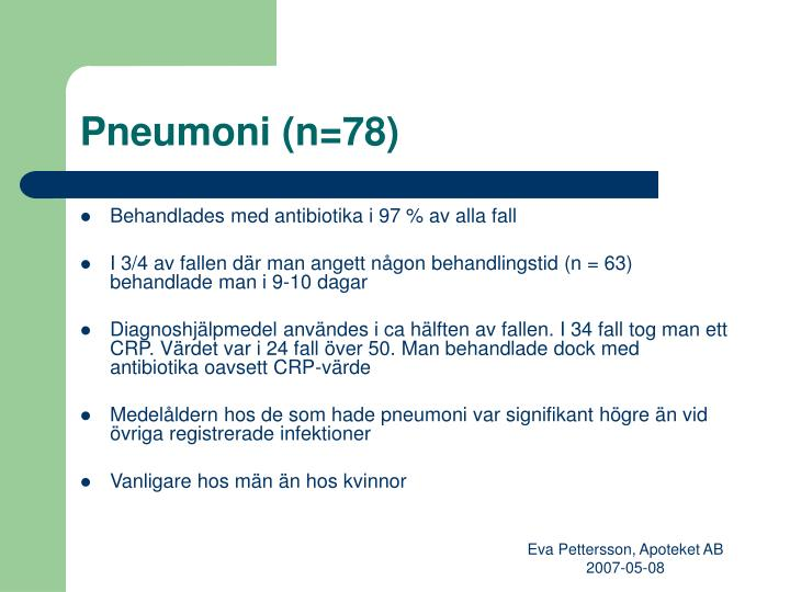 Pneumoni (n=78)