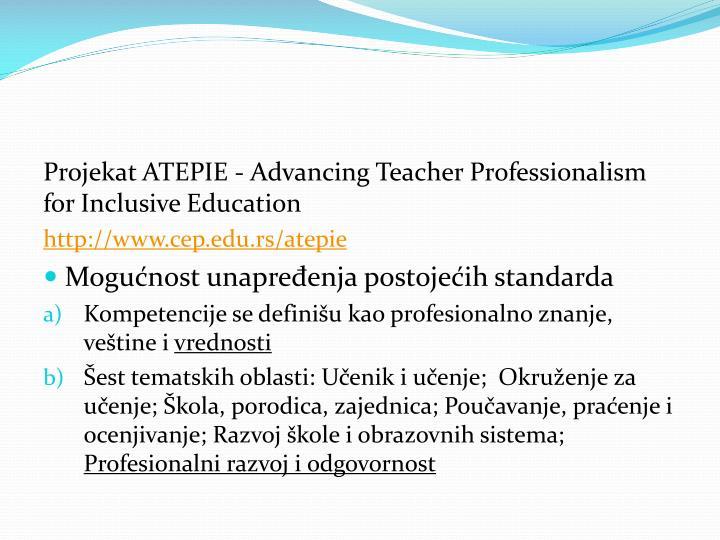 Projekat ATEPIE -