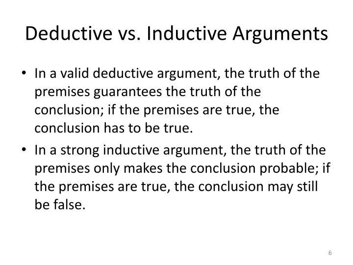 deductive versus inductive