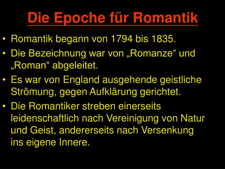 motive epoche der romantik