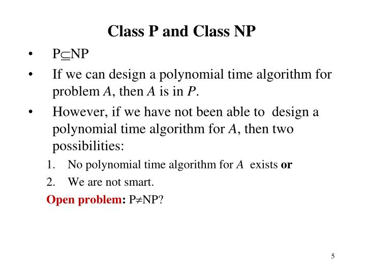 Class P and Class NP