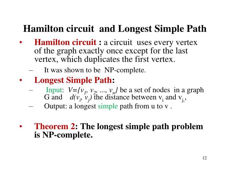 Hamilton circuit  and