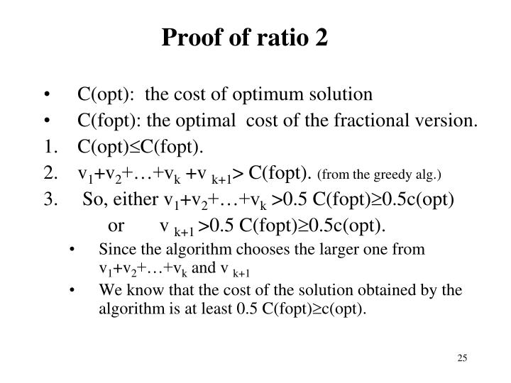 Proof of ratio 2