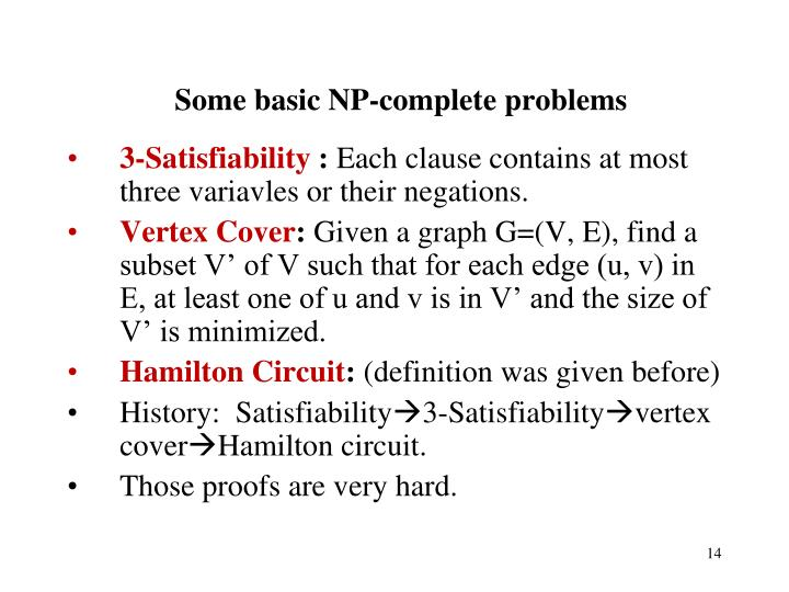 Some basic NP-complete problems