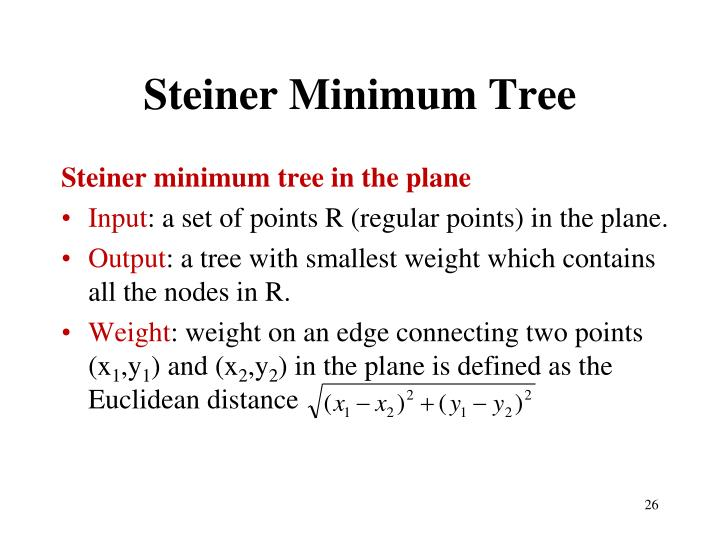 Steiner Minimum Tree