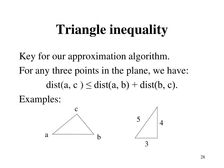 Triangle inequality