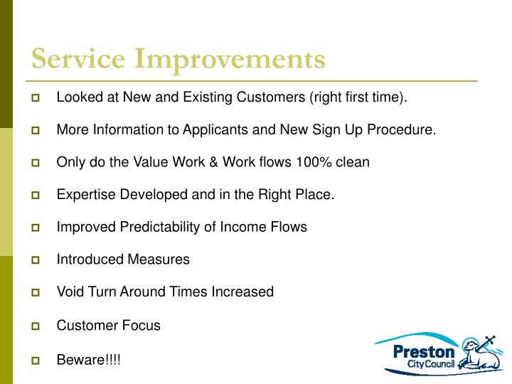 Service Improvements