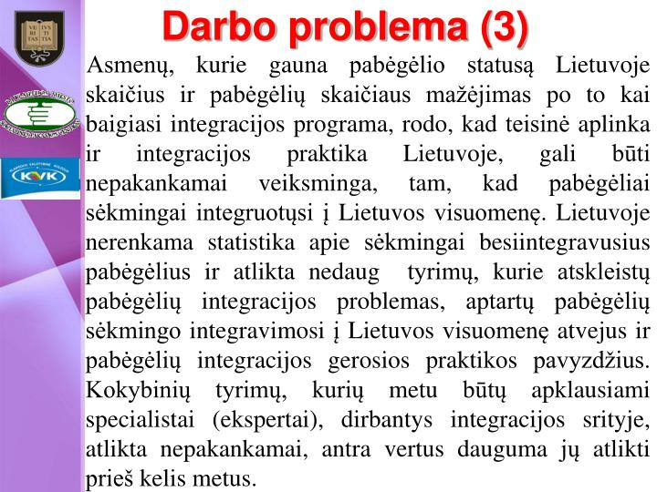 Darbo problema