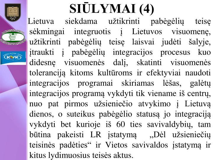 SIŪLYMAI (4)