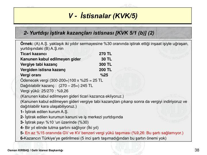 2- Yurtd itirak kazanlar istisnas [KVK 5/1 (b)] (2)