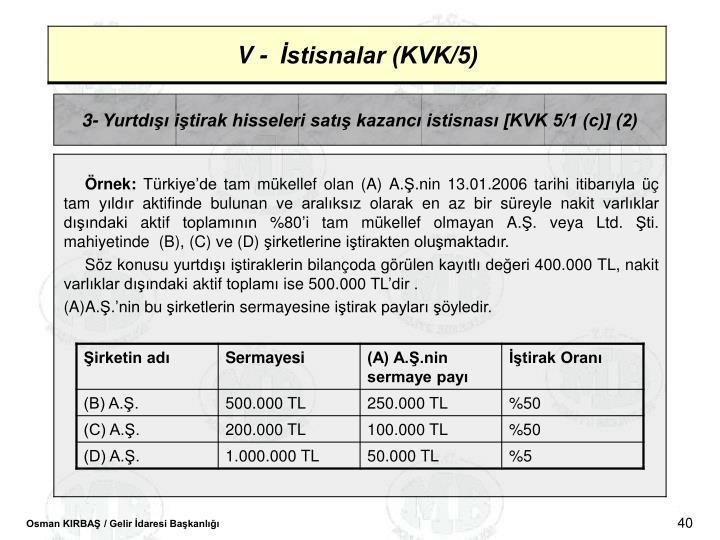 3- Yurtd itirak hisseleri sat kazanc istisnas [KVK 5/1 (c)] (2)